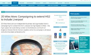 Global Railway Review 20 Miles More: Campaigning to extend HS2 to include Liverpool